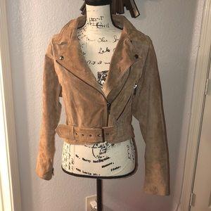 NWOT BLANKNYC Suede Moto Jacket